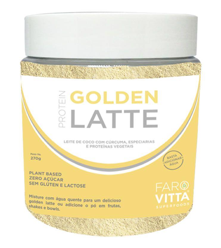 Golden Latte Protein 270g - Farovitta Superfoods