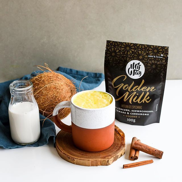 Golden Milk com Cúrcuma, Ashwagandha, Tâmara e Cardamomo 100g - My Way