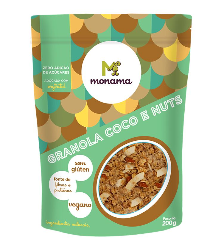 Granola Coco e Nuts Zero açúcar 200g - Monama