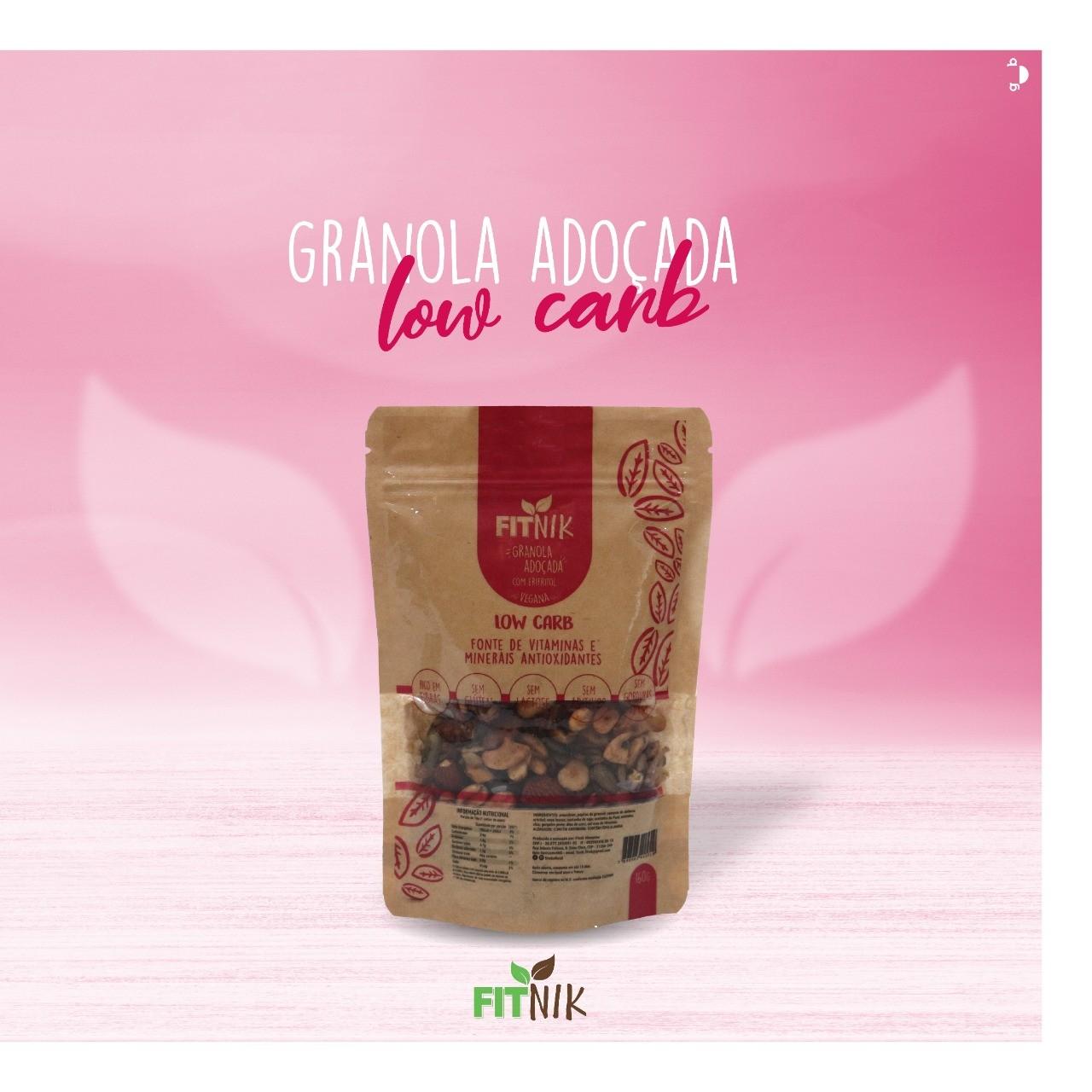 Granola Low Carb adoçada com eritritol 160g - FitNik