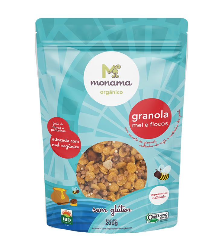 Granola Orgânica Sem Glúten 200g - Monama