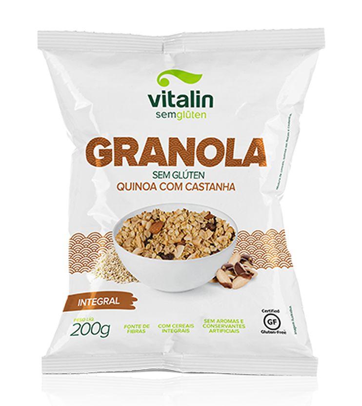 Granola Quinoa com Castanha 200g - Vitalin Sem glúten