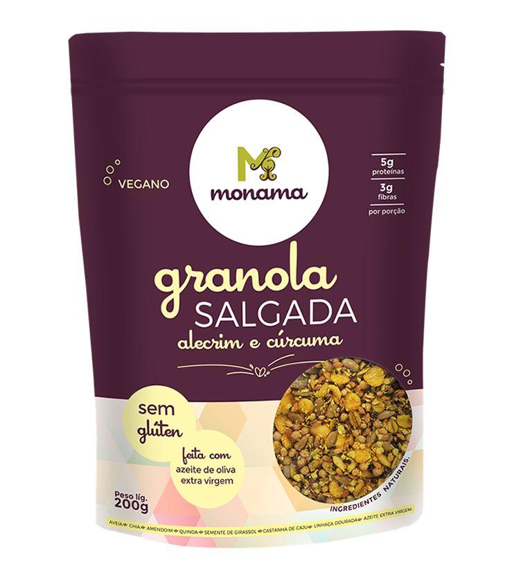 Granola Salgada Alecrim e Cúrcuma 200g - Monama