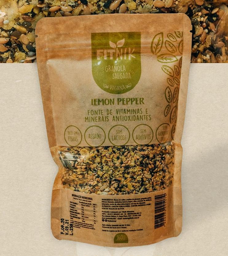 Granola Salgada Lemon Pepper 160g - FitNik