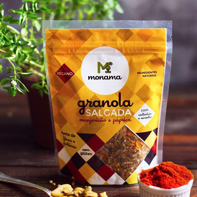 Granola Salgada Manjerição e Páprica 200g - Monama