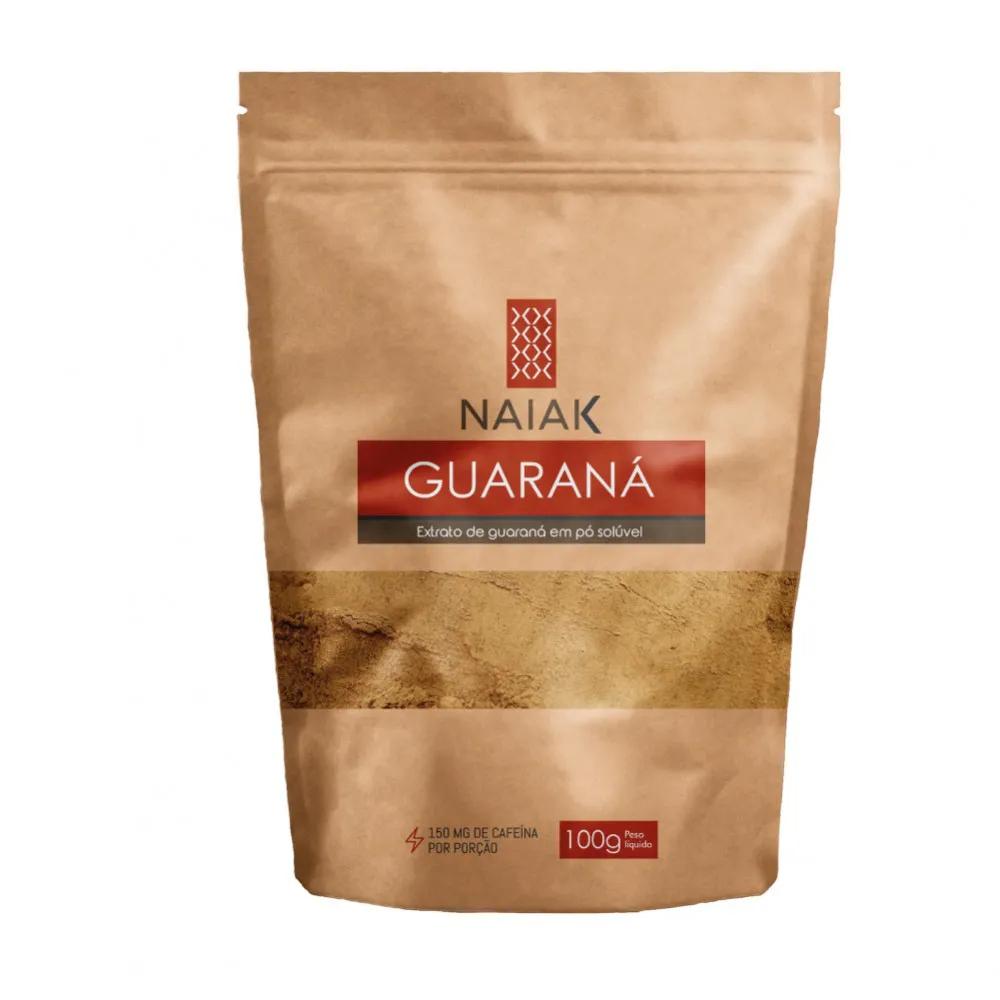 Guaraná em pó solúvel 100g - Naiak
