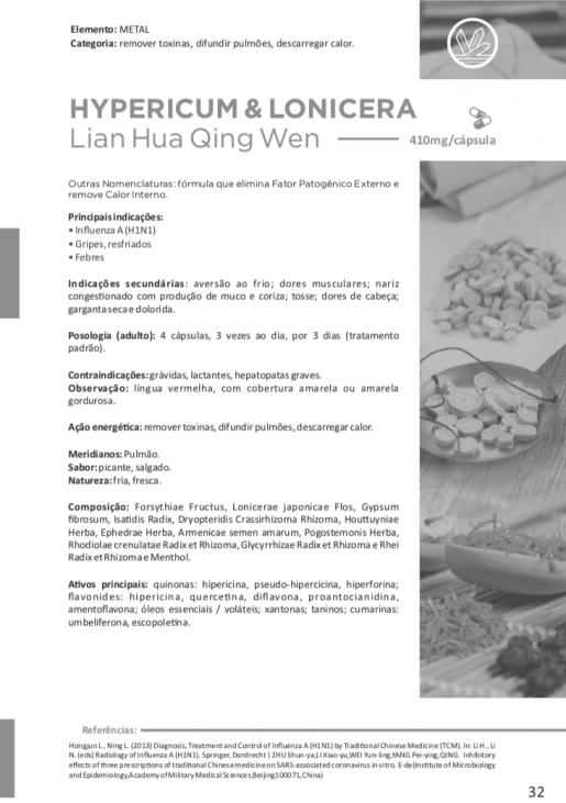 HYPERICUM & LONICERA Lian Hua Qing Wen 36 cápsulas 410mg - Vitafor