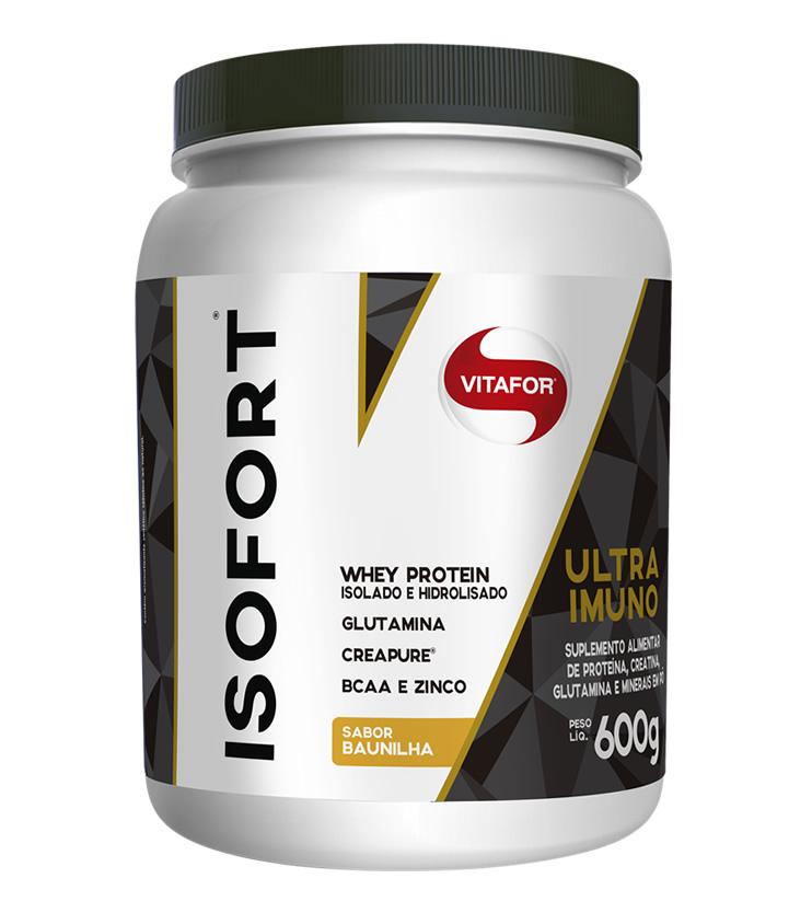 Isofort Ultra Imuno Sabor Baunilha - Whey Protein Isolado e Hidrolisado 600g - Vitafor