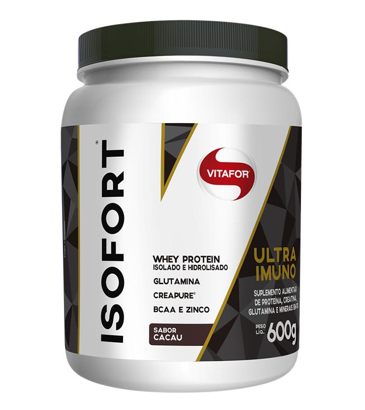 Isofort Ultra Imuno Sabor Cacau - Whey Protein Isolado e Hidrolisado 600g - Vitafor