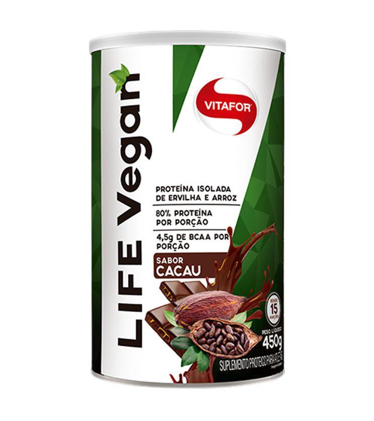 LIFE VEGAN Sabor Cacau 450g - Vitafor