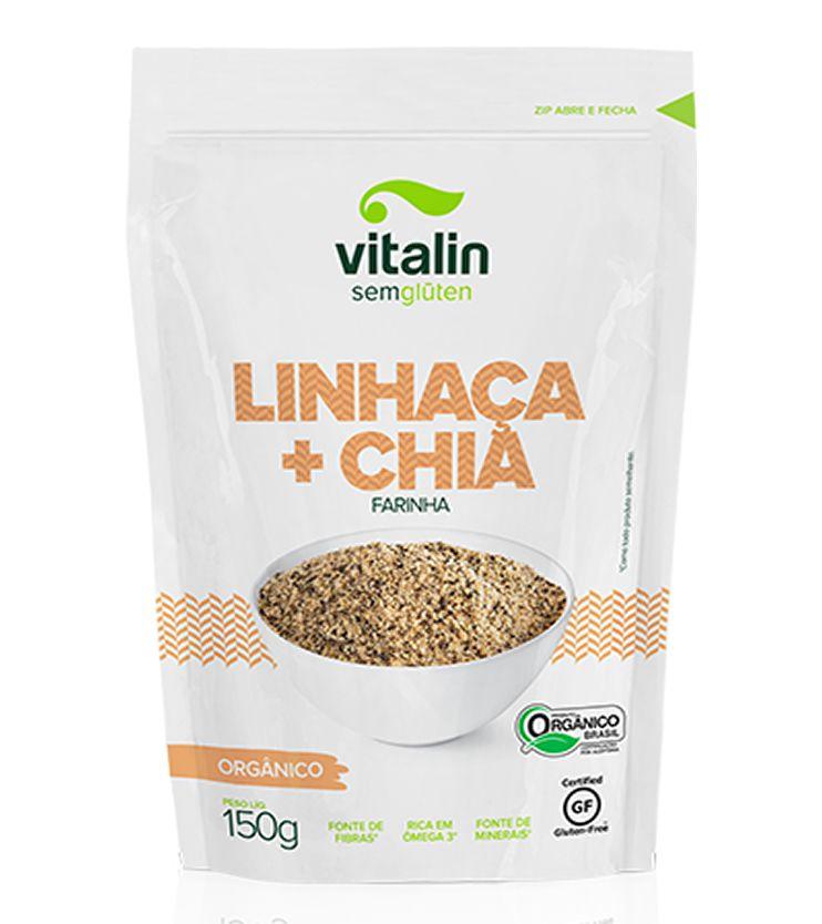 Linhaça + Chia Farinha Orgânica - Vitalin Sem glúten