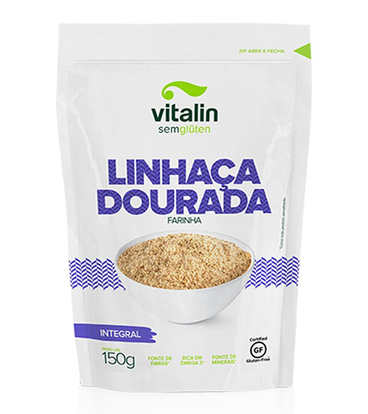Linhaça Dourada Farinha 150g - Vitalin Sem glúten