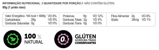 Macarrão Sem glúten Proteico LowCarb Chia e Beterraba 200g - Panda Proteico