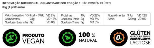 Macarrão Sem glúten Vegano Proteico LowCarb Proteína de Ervilha 200g - Panda Proteico