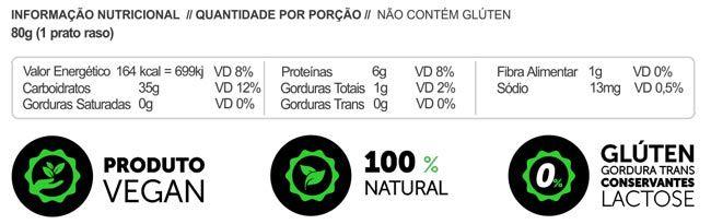 Macarrão Sem glúten Vegano Proteico LowCarb Salsa, Alho e Espinafre 200g - Panda Proteico