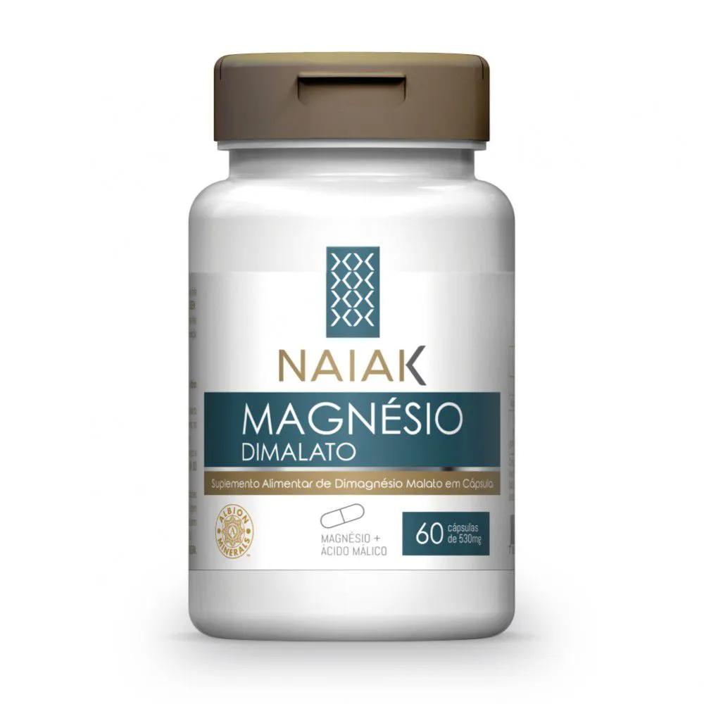 Magnésio Dimalato 60 cápsulas - Naiak