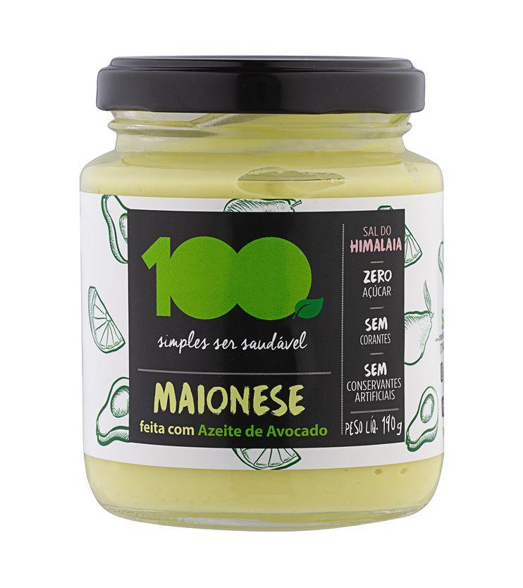 Maionese de Azeite Extra Virgem de Avocado 190g - 100 Foods