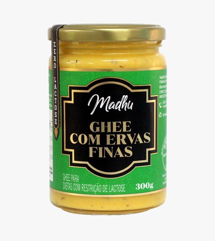 Manteiga Ghee Ervas Finas Zero lactose 300g- Madhu