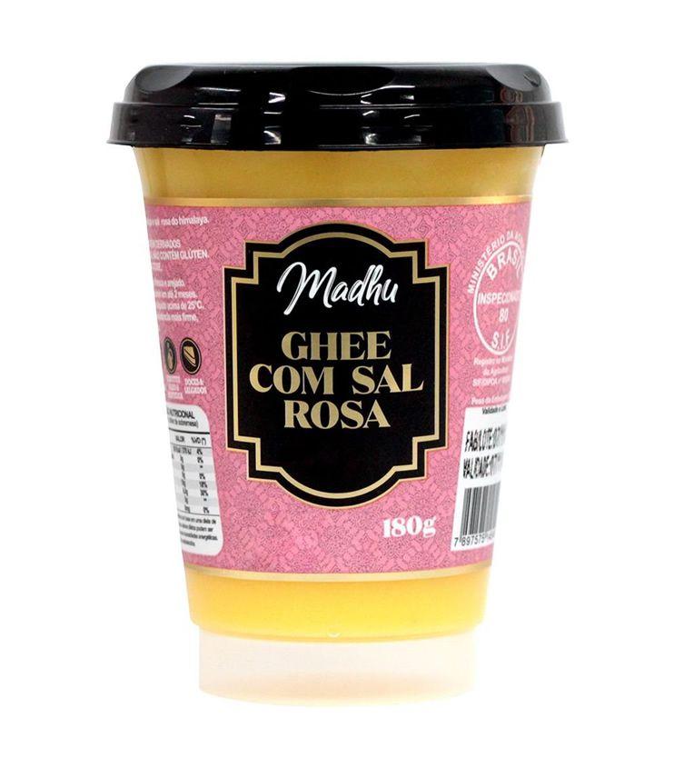 Manteiga Ghee Sal do Himalaia Zero lactose 180g- Madhu