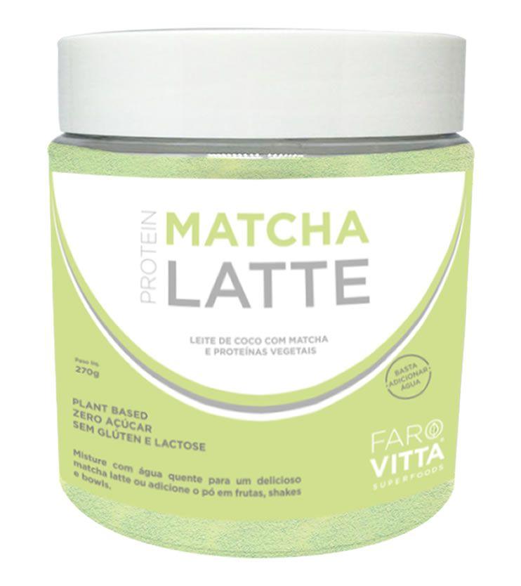 Matcha Latte Protein 270g - Farovitta Superfoods