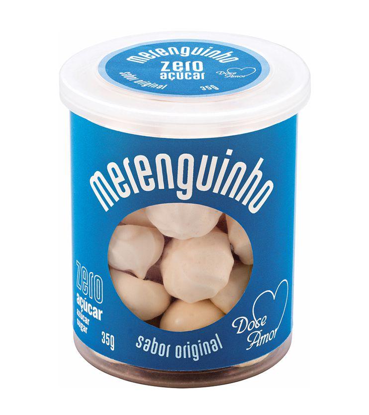 Merenguinho sabor Original ZERO açúcar 35g - Doce amor