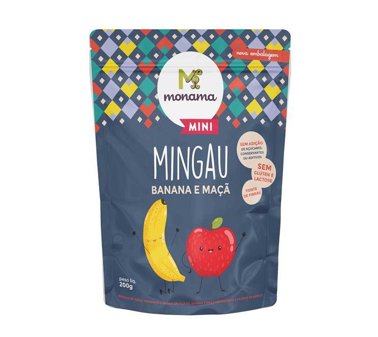 Mingau Banana Maçã Sem Glúten 200g - Monama Orgânicos