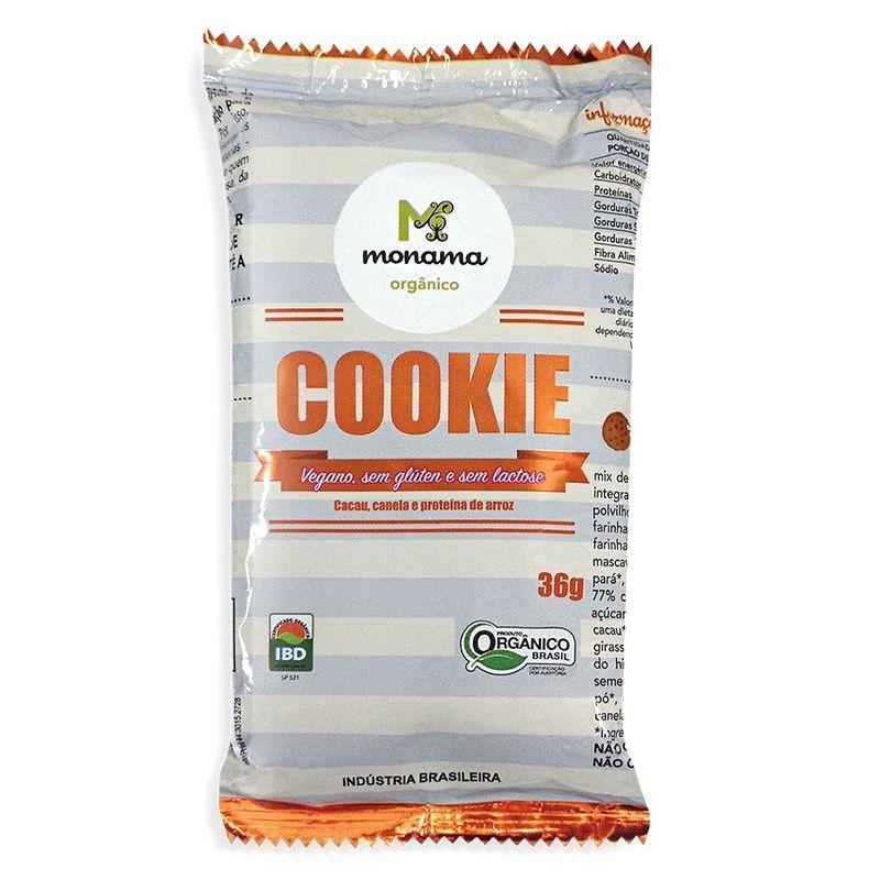 Mini Cookie Orgânico Cacau e Canela 36g - Monama