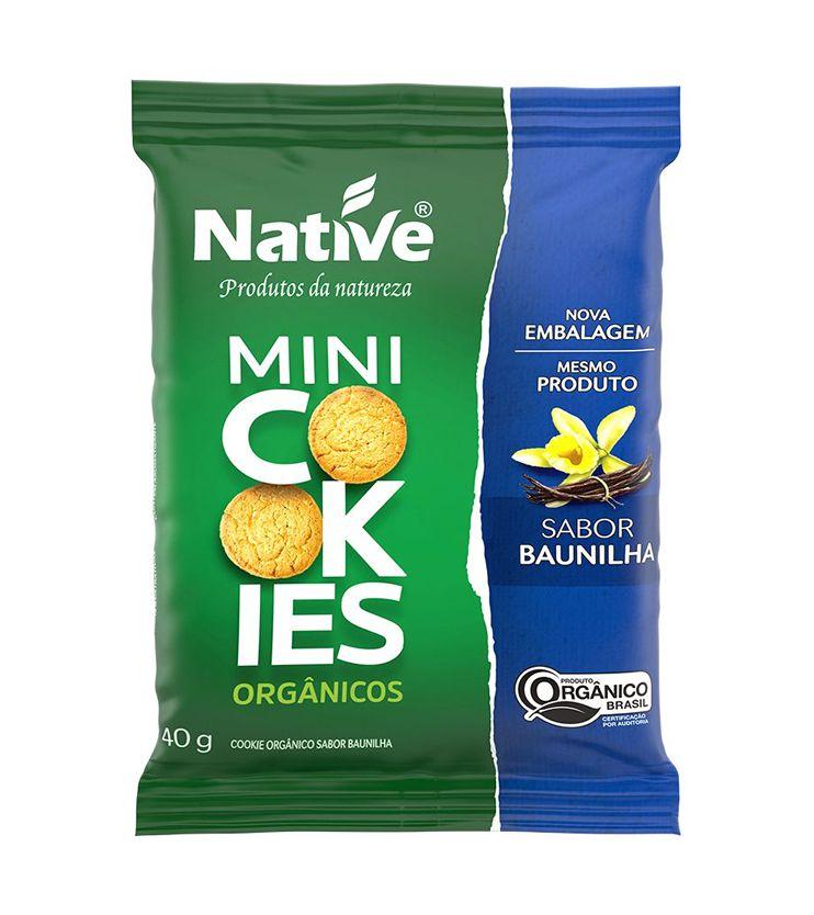 Mini Cookies Orgânicos Sabor Baunilha 40g - Native Orgânicos