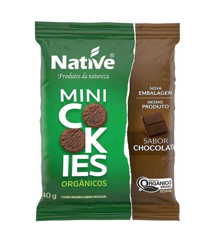 Mini Cookies Orgânicos Sabor Chocolate 40g - Native Orgânicos