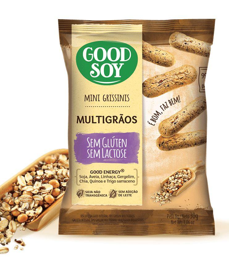 Mini Grissinis Multigrãos Sem glúten 30g - GoodSoy