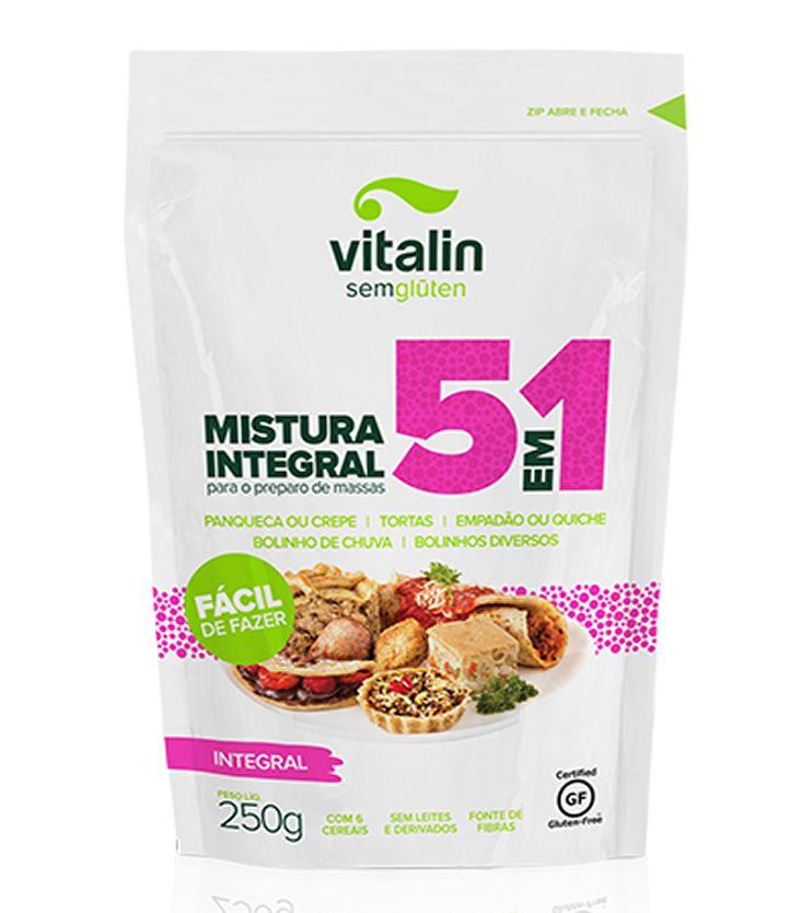 Mistura Integral para massas 5 em 1 - Vitalin Sem glúten