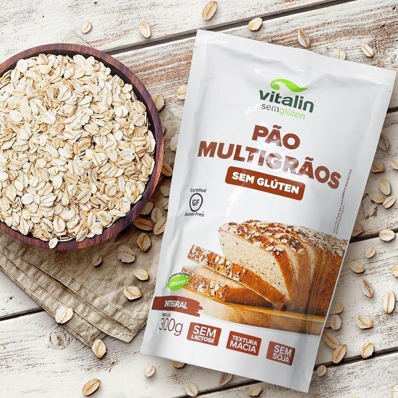 Mistura para Pão Multigrãos Sem Glúten 300g - Vitalin