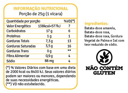 Mix de Batatas Doces Chips 45g - fhom