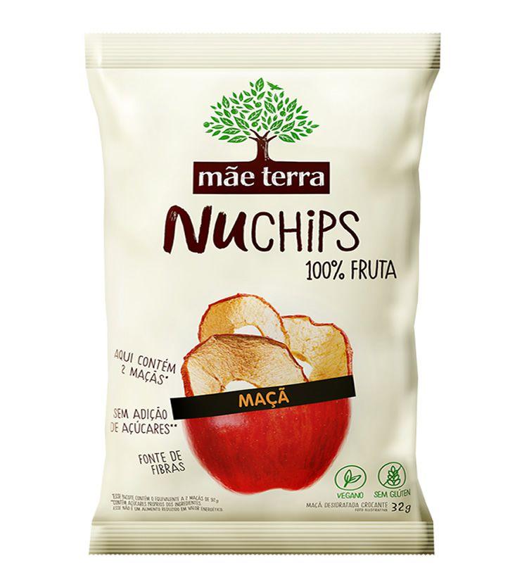 Nuchips Chips de Maçã 32g - Mãe Terra