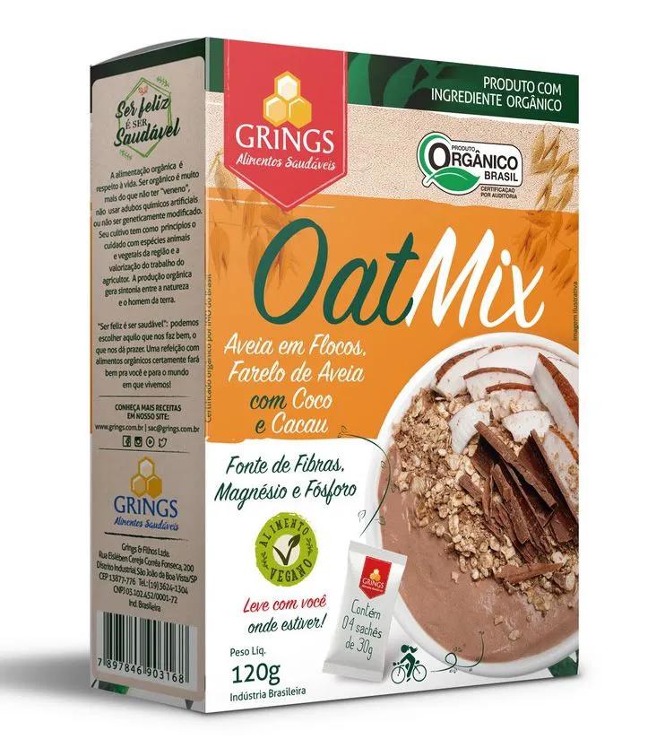 Oat Mix Orgânico Coco e Cacau 120g - Grings Alimentos Saudáveis