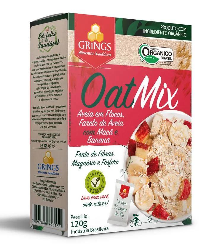 Oat Mix Orgânico Maça e Banana 120g - Grings Alimentos Saudáveis