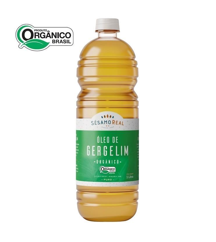 Óleo de Gergelim Natural Puro Orgânico Extra virgem e Prensado à frio 1 litro - Sésamo Real