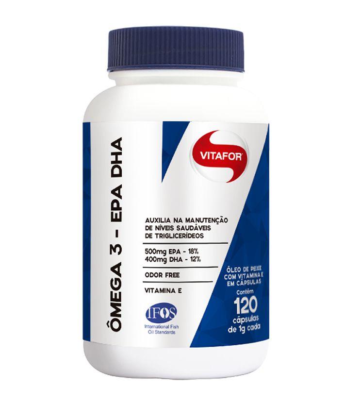 Ômega 3 EPA DHA 120 cápsulas 1000mg - Vitafor