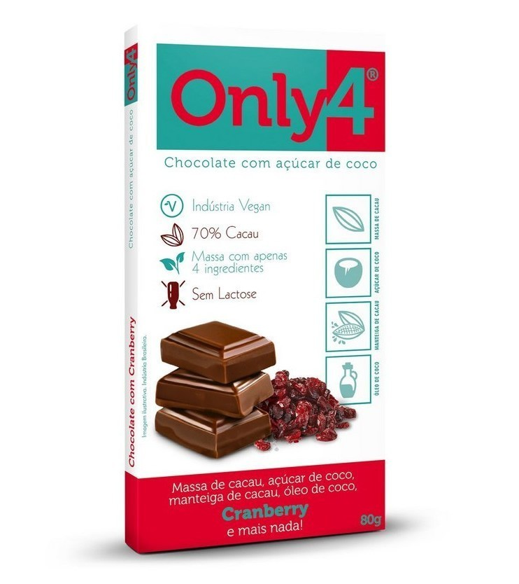 Only4 Chocolate 70% Cranberry 80g - Only4