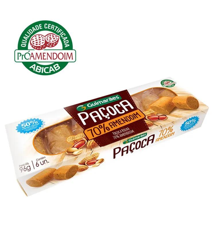 Paçoca 70% amendoim 6 unidades - Guimarães