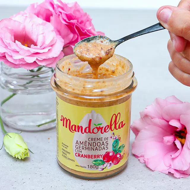 Pasta de Amêndoas Germinadas com Cranberry 180g - Mandorella
