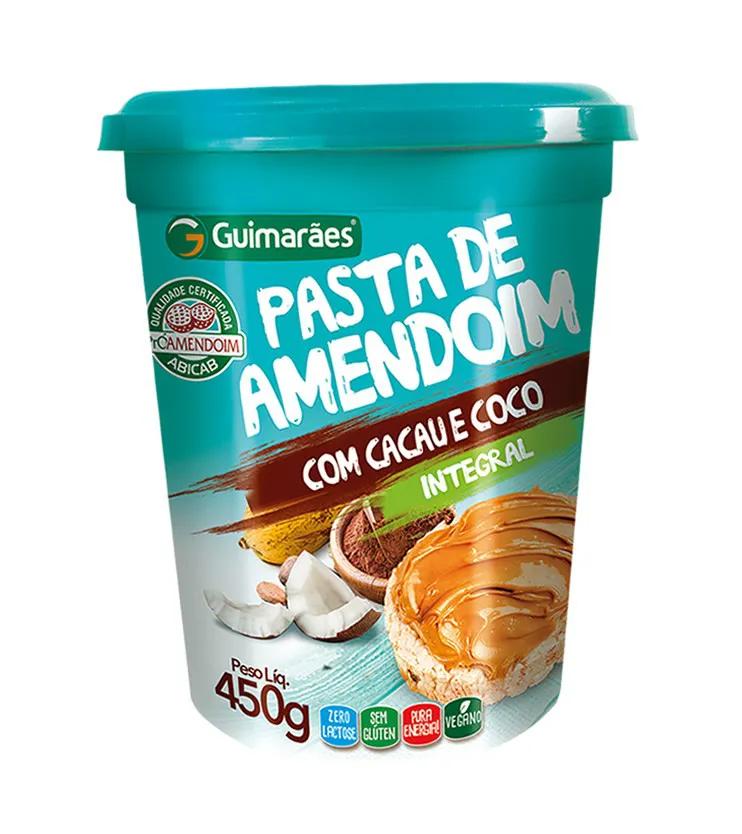 Pasta de Amendoim Integral com Cacau e Coco 450g - Guimarães
