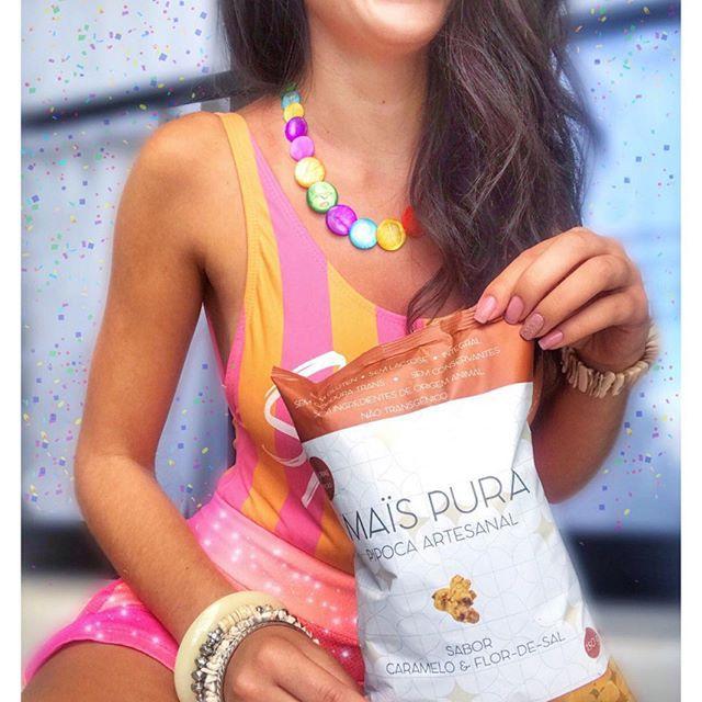 Pipoca Artesanal sabor Caramelo e Flor de Sal 150g - Mais Pura