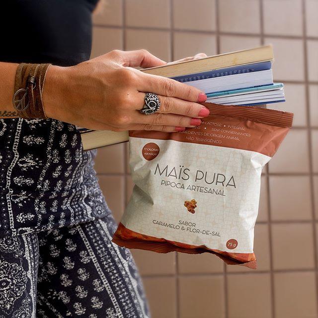 Pipoca Artesanal sabor Caramelo e Flor de Sal 75g - Mais Pura