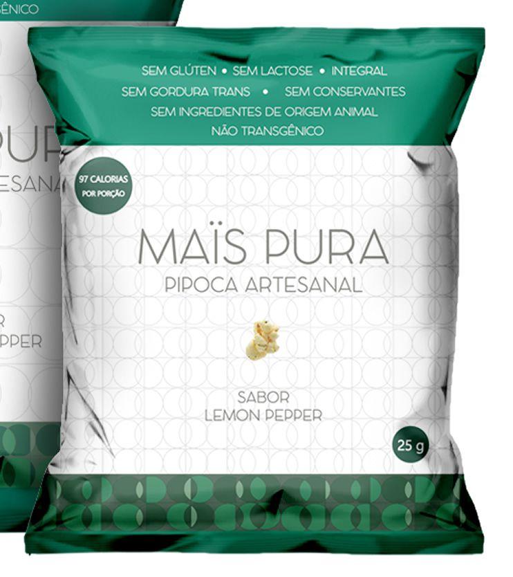 Pipoca Artesanal sabor Lemon Pepper 25g - Mais Pura