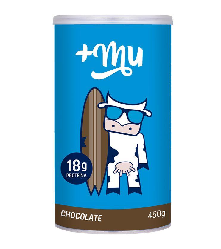 Pote +Mu Tradicional Sabor Chocolate  450g - Mais Mu