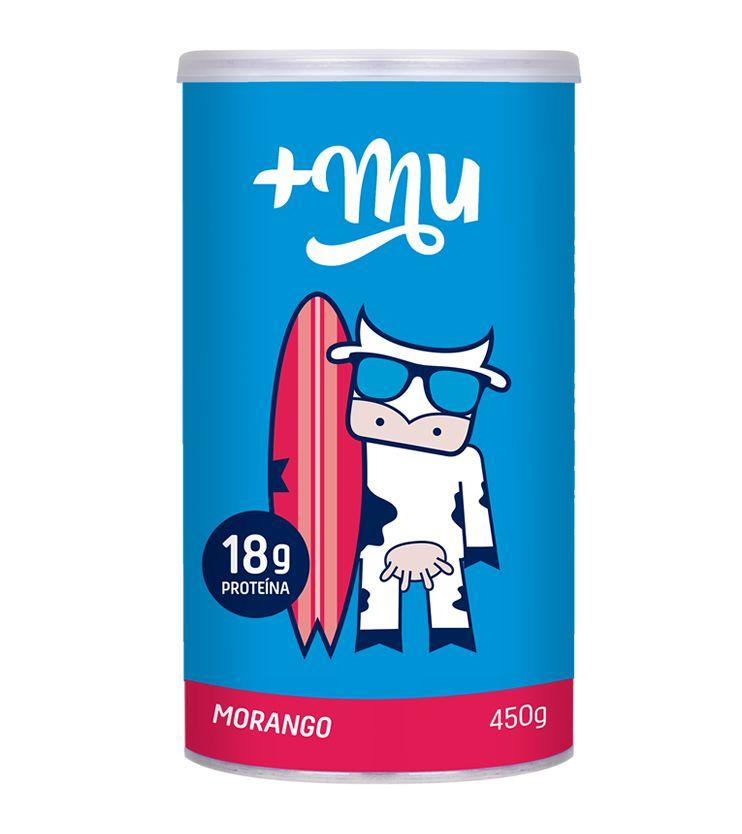 Pote +Mu Tradicional Sabor Morango  450g - Mais Mu