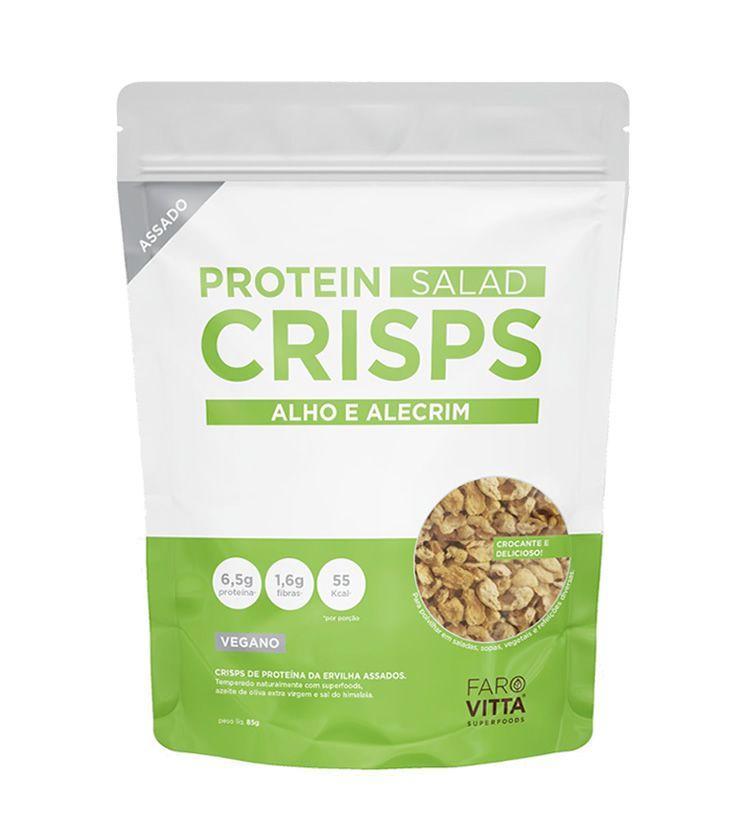 Protein Salad Crisps Vegano com Alho e Alecrim 85g - Farovitta Superfoods