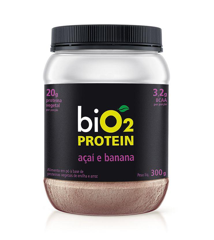 Proteína Vegana biO2 Protein Açaí e Banana 300g - biO2