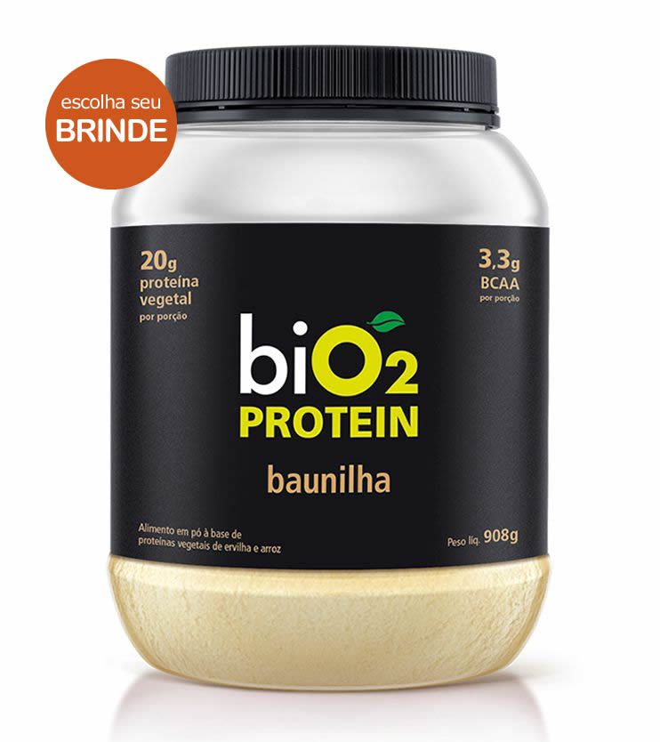 Proteína Vegana biO2 Protein Baunilha 908g - biO2